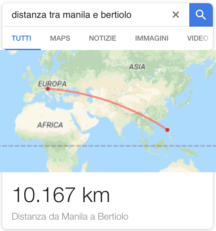 distanza bertiolo manila